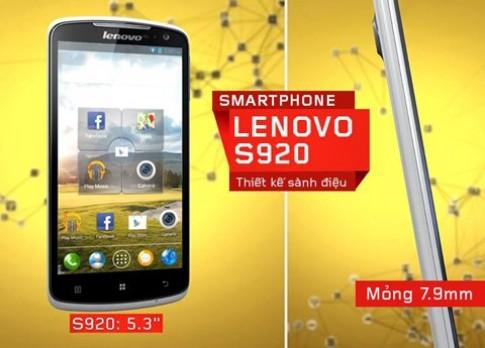 FPT ra mắt Lenovo S920 dùng chip lõi tứ