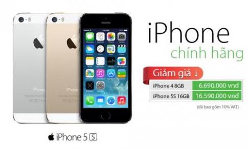 FPT Trading điều chỉnh giá bán iPhone 5S