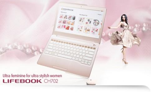 Fujitsu ra ultrabook màu hồng