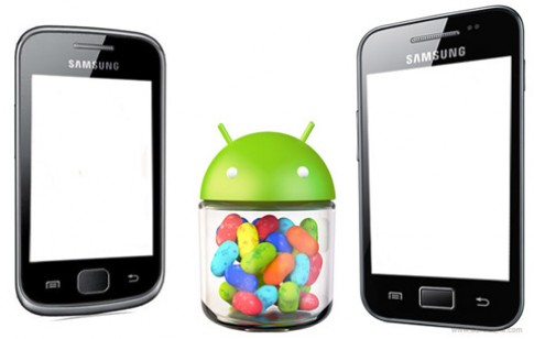 Galaxy Ace và Gio có Android Jelly Bean