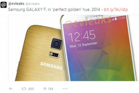 Galaxy F vỏ vàng kim loại lộ diện
