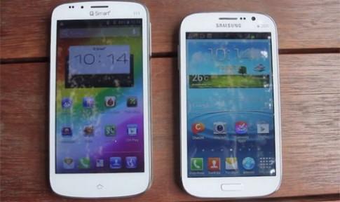 Galaxy Grand Duos đọ sức với smartphone Việt màn hình lớn