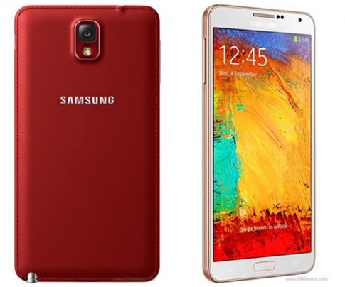 Galaxy Note 3 có thêm phiên bản màu đỏ và vàng ánh hồng
