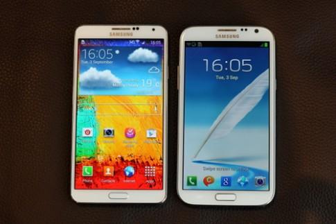 Galaxy Note 3 đọ dáng với Galaxy Note II