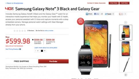Galaxy Note 3 được bán giá 700 USD