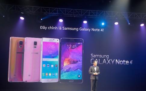 Galaxy Note 4 ra mắt chính thức tại Việt Nam
