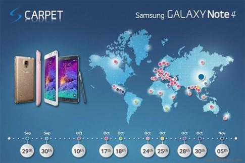 Galaxy Note 4 sẽ ra mắt ngày 24/10 tại Việt Nam