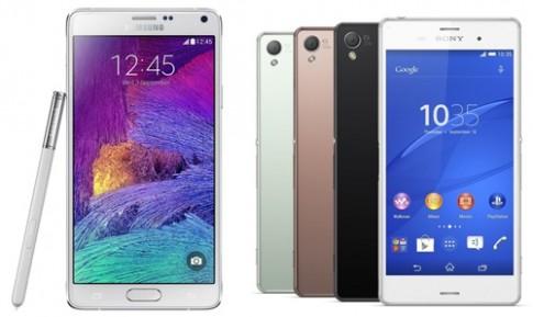 Galaxy Note 4 và Xperia Z3 đọ cấu hình