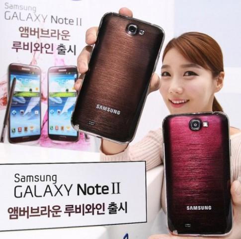 Galaxy Note II thêm 2 màu mới