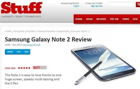 Galaxy Note II - thiết bị di động ấn tượng nhất 2012