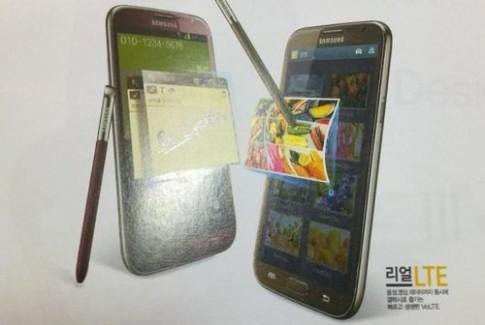 Galaxy Note II xuất hiện với màu đỏ và nâu