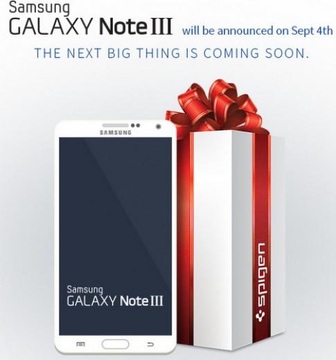 Galaxy Note III lộ diện trên website của hãng phụ kiện