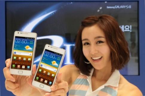Galaxy S II chính hãng màu trắng giá 13,8 triệu