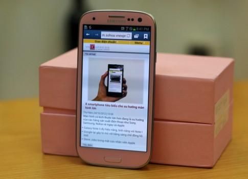 Galaxy S III 'hàng độc' màu hồng ở VN