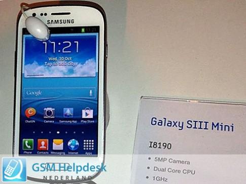 Galaxy S III Mini lộ ảnh và cấu hình trước ngày ra mắt