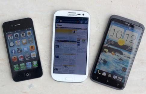Galaxy S III, One X và 4S đọ camera
