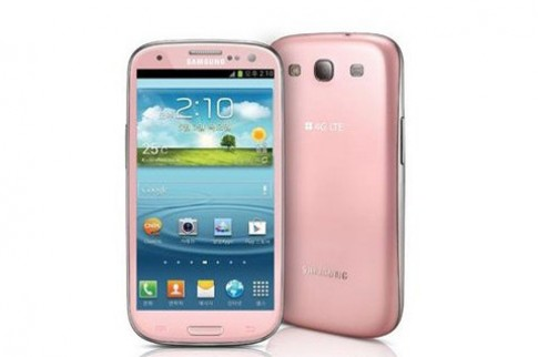 Galaxy S III phien ban mau hong xuat hien