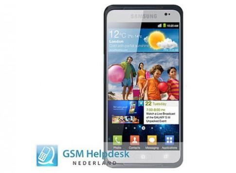 Galaxy S III sẽ có màn hình HD 4,6 inch