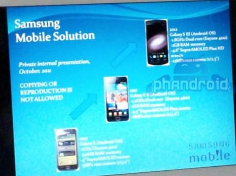 Galaxy S III với vi xử lý hai nhân 1,8GHz