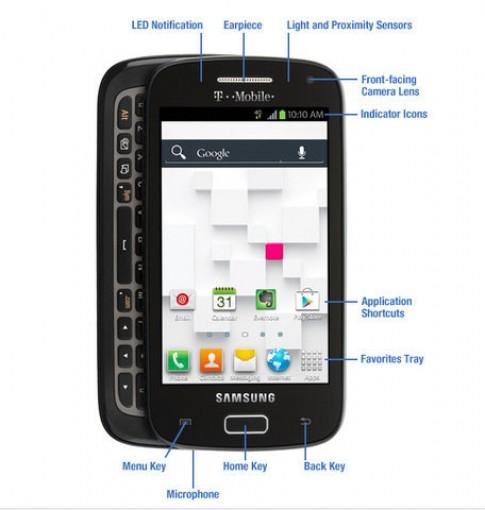 Galaxy S phiên bản bàn phím trượt xuất hiện
