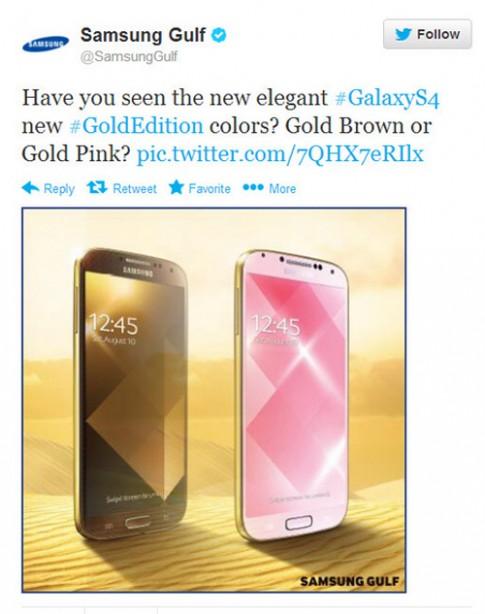 Galaxy S4 cũng có vỏ vàng giống iPhone 5S