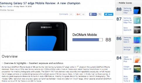 Galaxy S7 edge là smartphone có camera tốt nhất