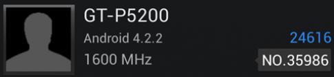 Galaxy Tab 3 10.1 lộ kết quả kiểm tra benchmark