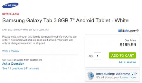 Galaxy Tab 3 7.0 có thể bán với giá khoảng 4,1 triệu đồng