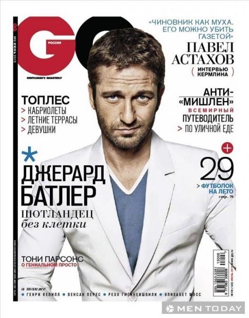 Gerard Butler lịch lãm và nam tính trên GQ Nga