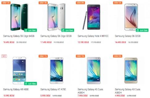 Giá smartphone Samsung giảm cả triệu đồng trước khi Note 5 ra mắt