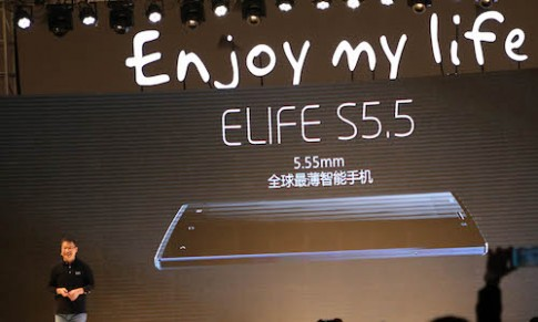 Gionee Elife S5.5 lập kỷ lục smartphone mỏng nhất thế giới