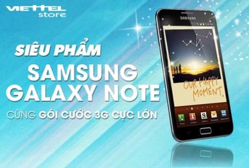 Gói cước 3G lớn cho Samsung Galaxy Note
