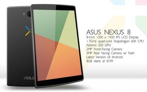 Google có thể ra Nexus 8 màn hình siêu nét, giá chỉ 199 USD