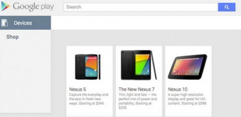 Google để lộ Nexus 5 trên website với giá 349 USD