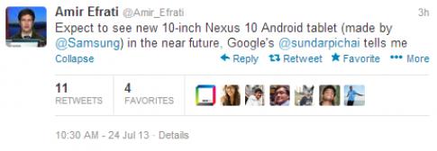 Google xác nhận sắp ra tablet Nexus 10 thế hệ hai
