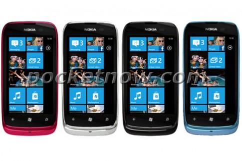 Hình ảnh chính thức Nokia Lumia 610 xuất hiện