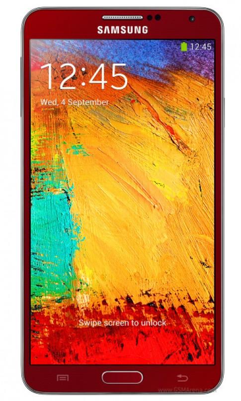 Hình ảnh Galaxy Note 3 phiên bản màu đỏ và vàng hồng