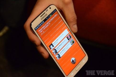 Hình ảnh Home cài trên Galaxy Note II