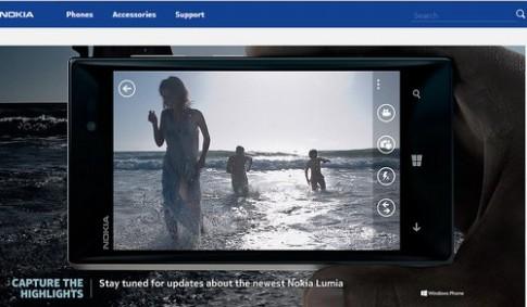 Hình ảnh Lumia 928 xuất hiện trên web Nokia