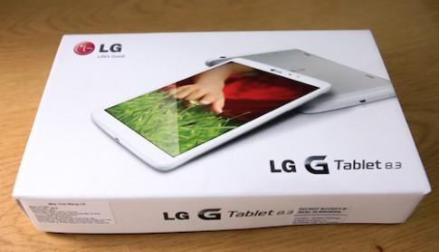 Hình ảnh mở hộp LG G Tablet 8.3 tại Việt Nam