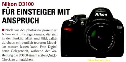 Hình ảnh Nikon D3100 'lộ diện' cùng 4 ống kính mới