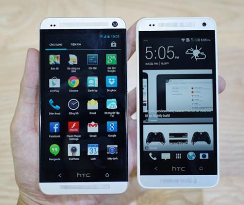 Hình ảnh so sánh HTC One và One Mini