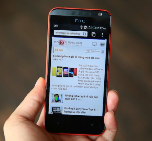 Hình ảnh thực tế HTC Desire 300 tại Việt Nam