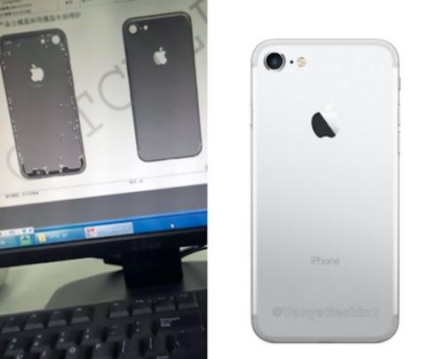 Hình dựng iPhone 7 dựa trên ảnh rò rỉ