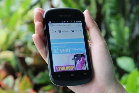Hisense Jupiter - smartphone 3G giá rẻ