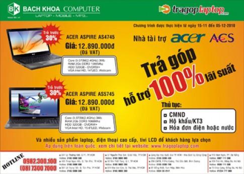 Hỗ trợ 100% lãi suất khi mua laptop