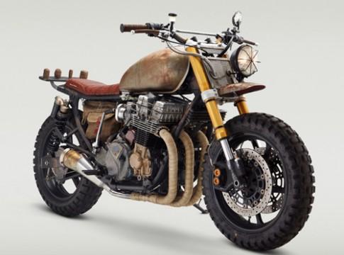 """Honda CB750 Độ phong cách """"bụi bậm"""" mạnh mẽ"""