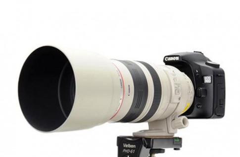 Hood màu trắng đồng bộ cho ống kính Canon L