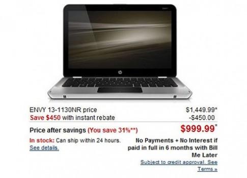 HP Envy 13 giảm giá 450 USD