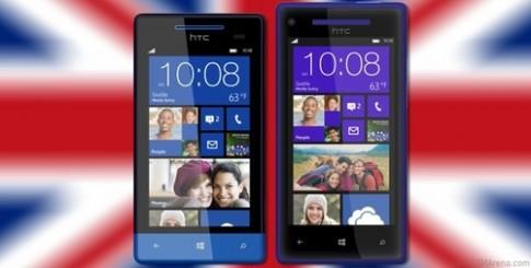 HTC 8X, 8S bán ở Anh lần lượt vào 2/11 và 15/11